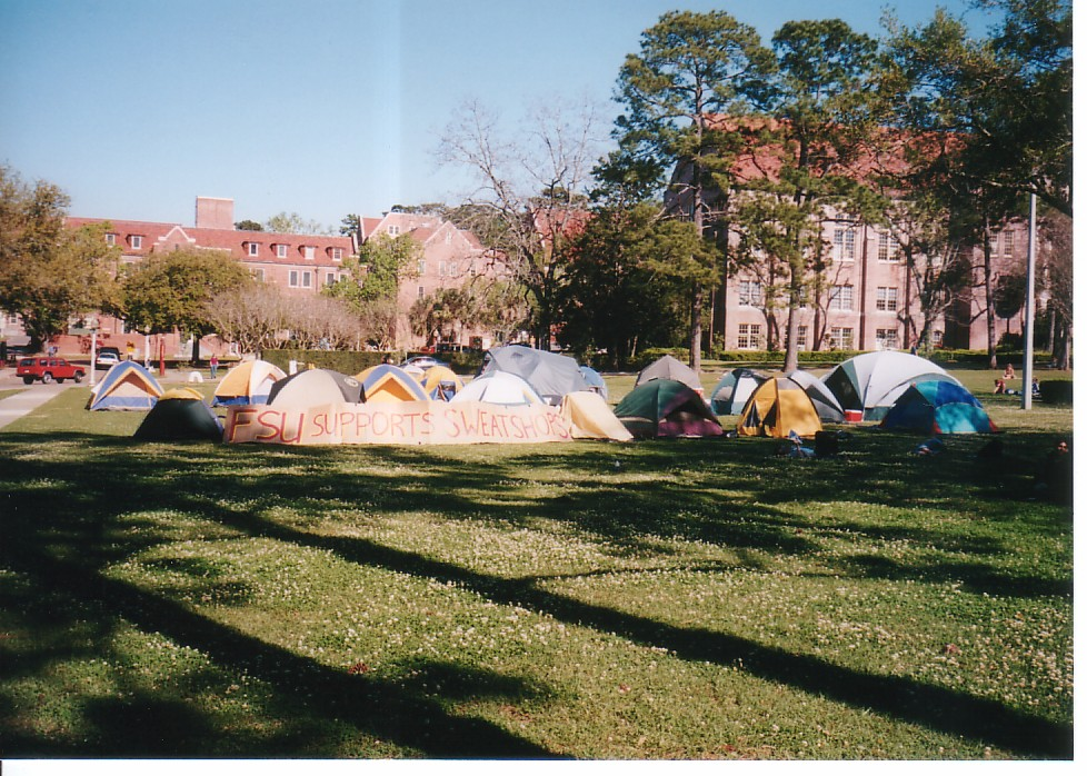 FSU SUPPORTS SWEATSHIPS sign & Tent City 05.jpg