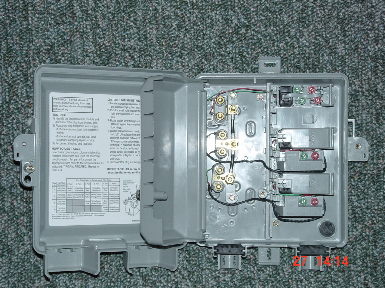 telephone network interface box wiring diagram get free image about wiring diagram